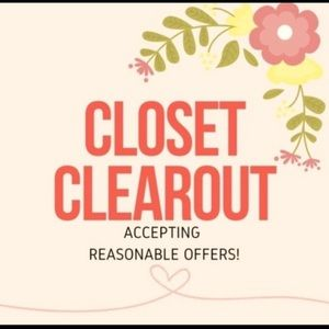Closet clear out everything must go send offers!